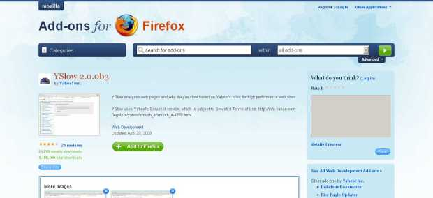 YSlow -- Add-ons for Firefox_1245131181960